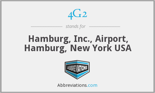 4G2 - Hamburg, Inc., Airport, Hamburg, New York USA
