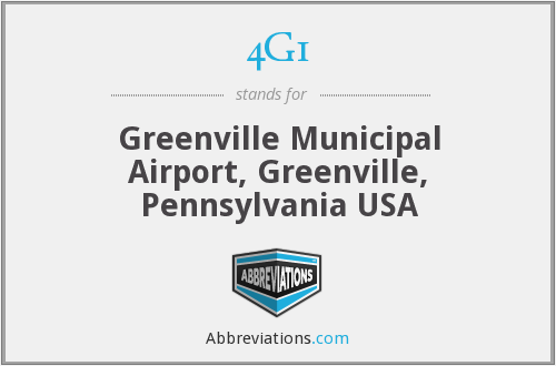 4G1 - Greenville Municipal Airport, Greenville, Pennsylvania USA