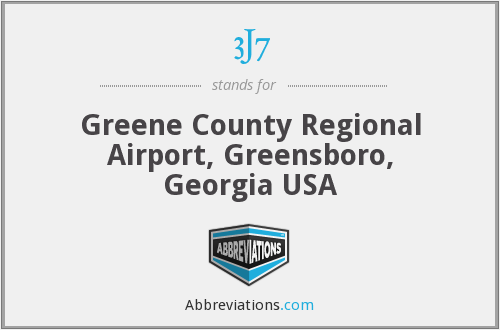 3J7 - Greene County Regional Airport, Greensboro, Georgia USA