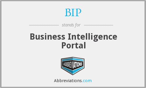 BIP - Business Intelligence Portal