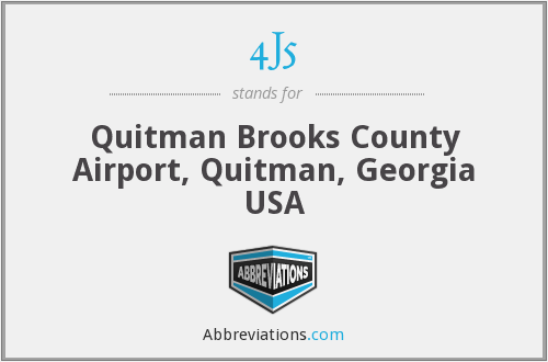 4J5 - Quitman Brooks County Airport, Quitman, Georgia USA