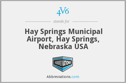 4V6 - Hay Springs Municipal Airport, Hay Springs, Nebraska USA