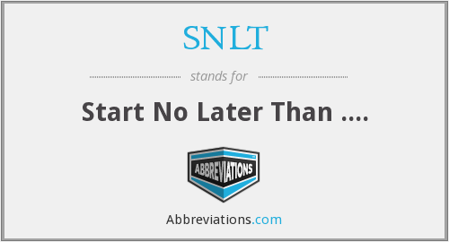 What does SNLT stand for?