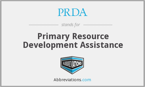 PRDA - Primary Resource Development Assistance
