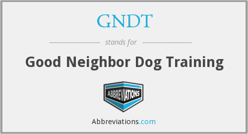 What does GNDT stand for?