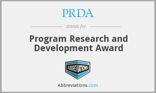 PRDA - Program Research and Development Award