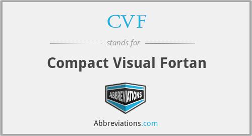 CVF - Compact Visual Fortan