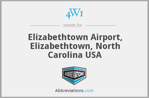 4W1 - Elizabethtown Airport, Elizabethtown, North Carolina USA