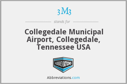 3M3 - Collegedale Municipal Airport, Collegedale, Tennessee USA