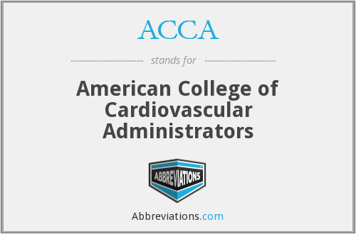 ACCA - American College of Cardiovascular Administrators