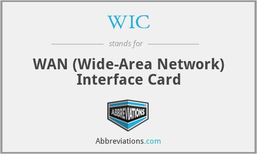 WIC - WAN (Wide-Area Network) Interface Card