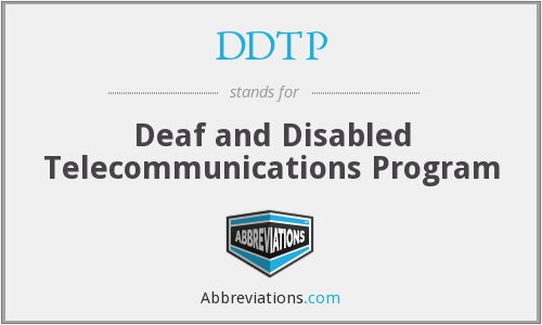 What does DDTP stand for?