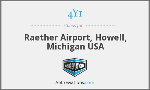 4Y1 - Raether Airport, Howell, Michigan USA