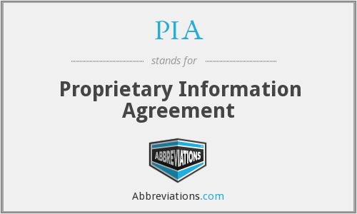 What Is The Abbreviation For Proprietary Information Agreement