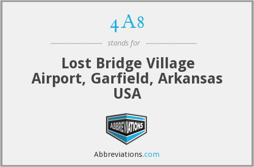 4A8 - Lost Bridge Village Airport, Garfield, Arkansas USA