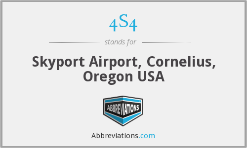 4S4 - Skyport Airport, Cornelius, Oregon USA