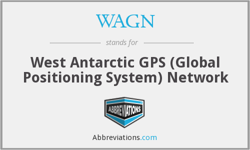 WAGN - West Antarctic GPS (Global Positioning System) Network