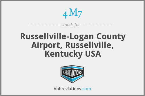4M7 - Russellville-Logan County Airport, Russellville, Kentucky USA