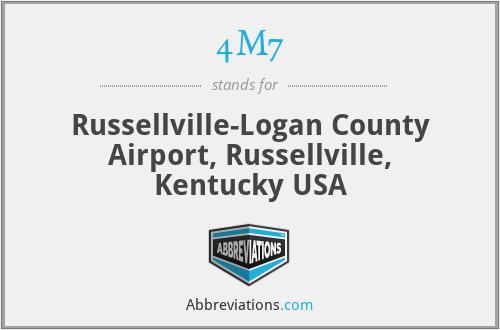 4M7 - Russellville-Logan County Airport, Russellville, Kentucky USA