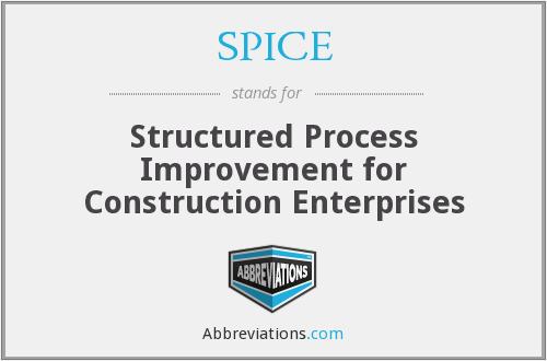 SPICE - Structured Process Improvement for Construction Enterprises