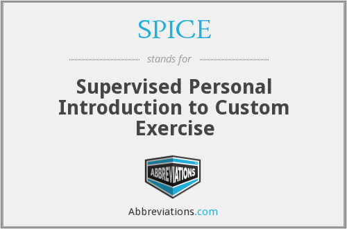 SPICE - Supervised Personal Introduction to Custom Exercise