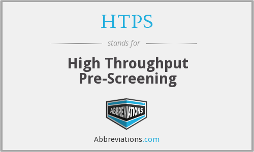 HTPS - High Throughput Pre-Screening