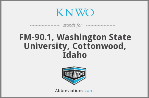 KNWO - FM-90.1, Washington State University, Cottonwood, Idaho