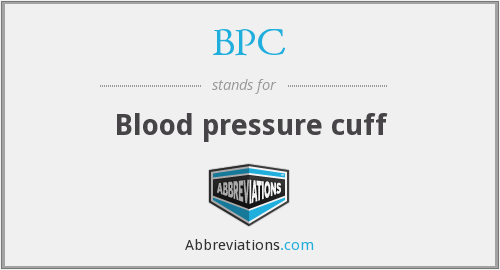 BPC - Blood pressure cuff