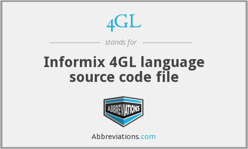 4GL - Informix 4GL language source code file