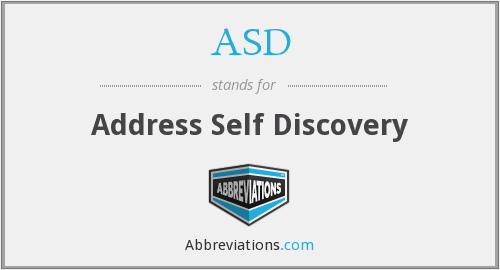 ASD - Address Self Discovery