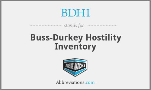 BDHI - Buss-Durkey Hostility Inventory