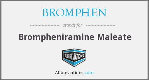 What does BROMPHEN stand for?