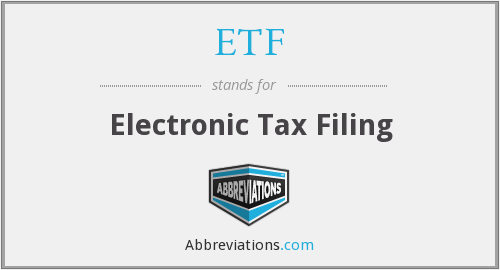 ETF - Electronic Tax Filing
