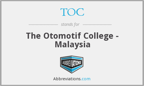 TOC - The Otomotif College - Malaysia