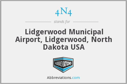 4N4 - Lidgerwood Municipal Airport, Lidgerwood, North Dakota USA