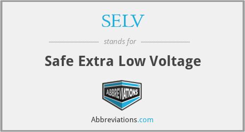 SELV - Safe Extra Low Voltage