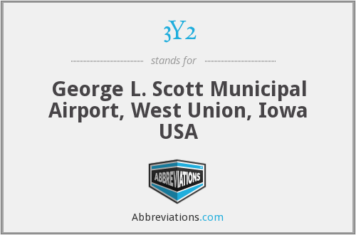 3Y2 - George L. Scott Municipal Airport, West Union, Iowa USA
