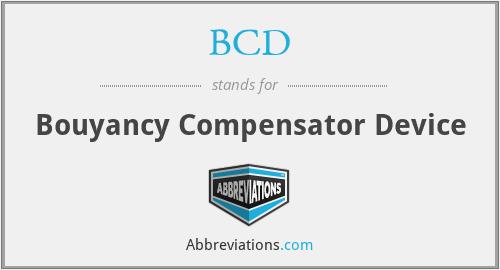 BCD - Bouyancy Compensator Device