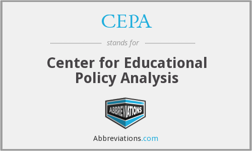 CEPA - Center for Educational Policy Analysis