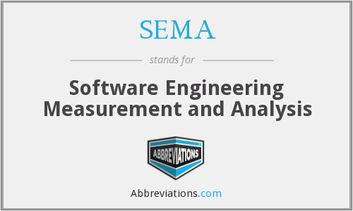 SEMA - Software Engineering Measurement and Analysis