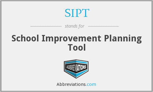SIPT - School Improvement Planning Tool