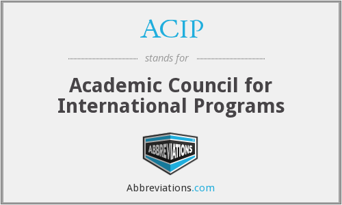 ACIP - Academic Council for International Programs