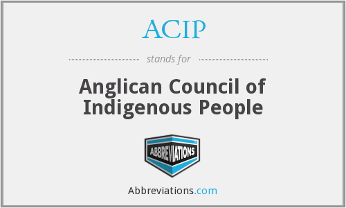 ACIP - Anglican Council of Indigenous People