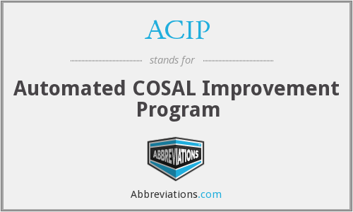 ACIP - Automated COSAL Improvement Program