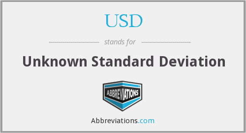 USD - Unknown Standard Deviation
