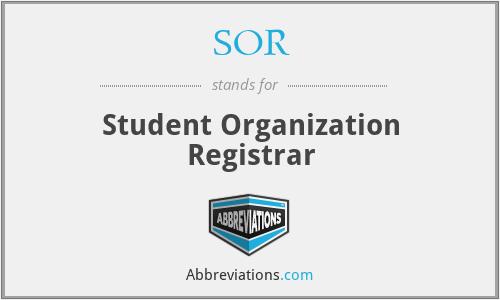 SOR - Student Organization Registrar