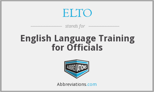 What does ELTO stand for?