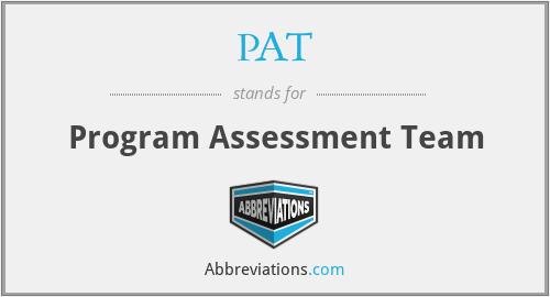 PAT - Program Assessment Team
