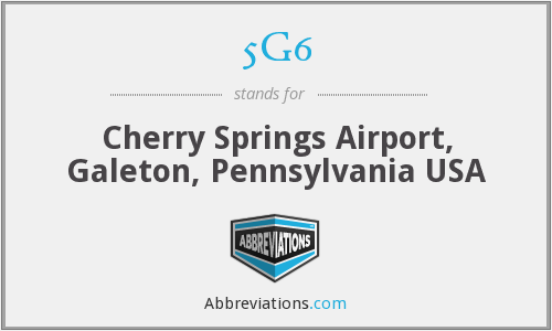 5G6 - Cherry Springs Airport, Galeton, Pennsylvania USA