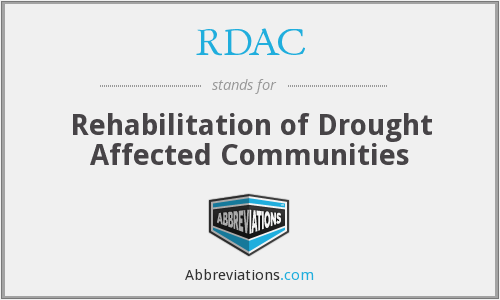 RDAC - Rehabilitation of Drought Affected Communities